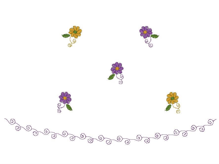 小花花边-花纹-绣道-powered