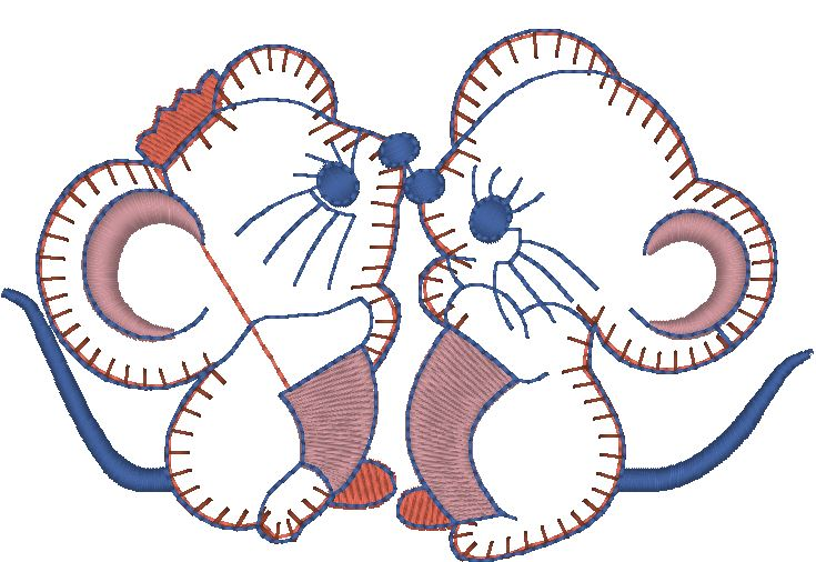两只老鼠-卡通-绣道-powered